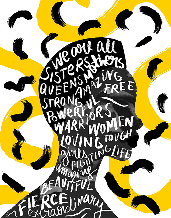 We all are sisters! lettering by Andreea Robescu