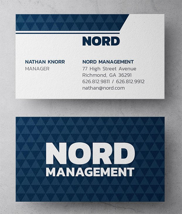 Nord Management Business Card