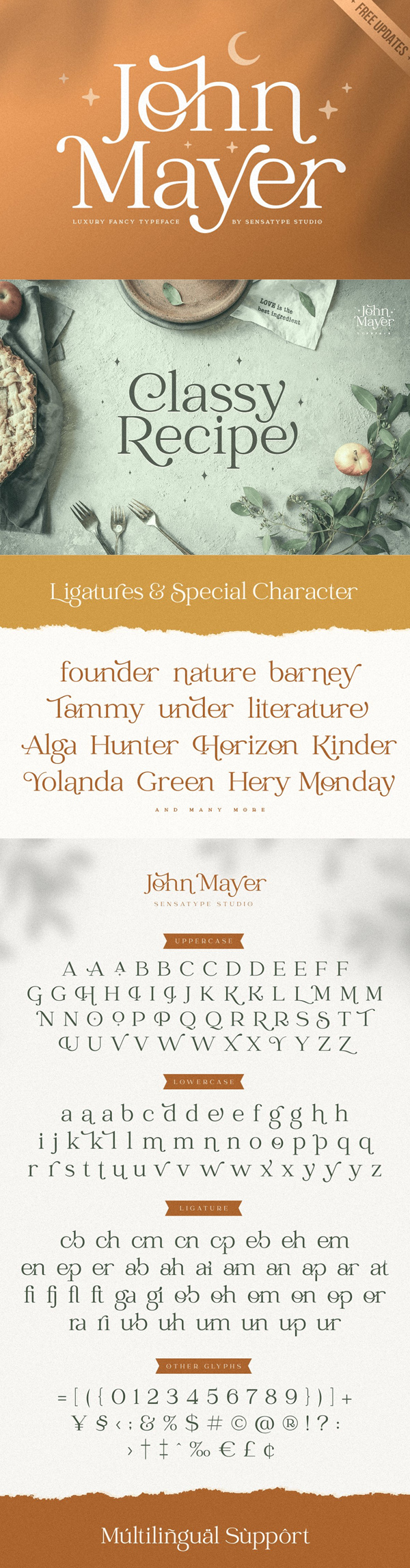 John Mayer Fancy Ligature Free Font