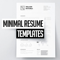 Post thumbnail of 25 Clean Minimal Resume Templates Design