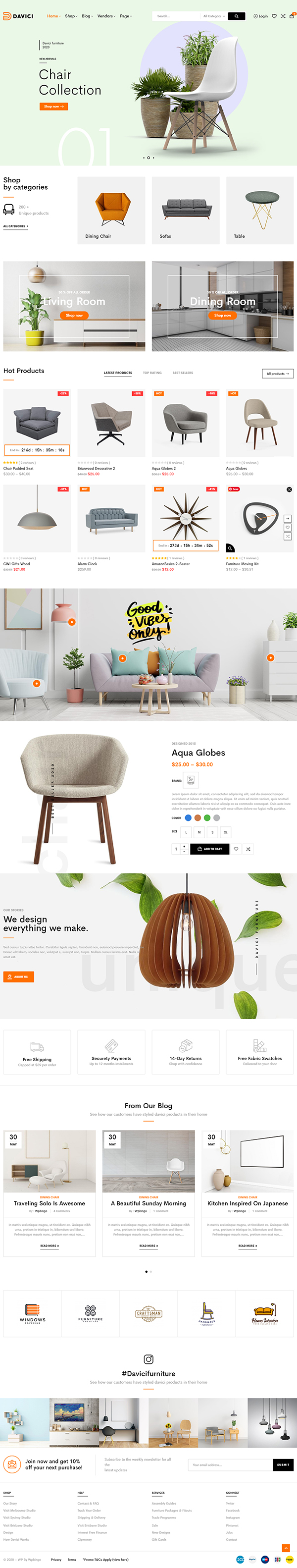 Davici – Furniture WooCommerce WordPress Theme