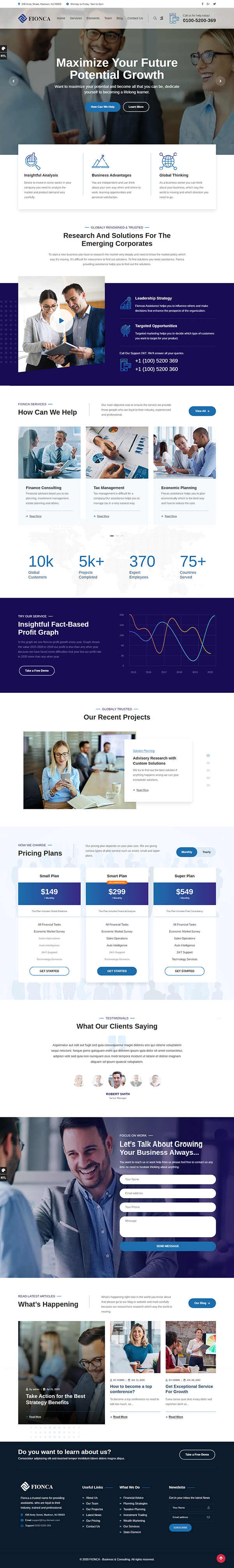 Fionca - Business & Finance WordPress Theme