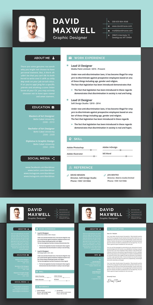 Awesome Word Resume / CV
