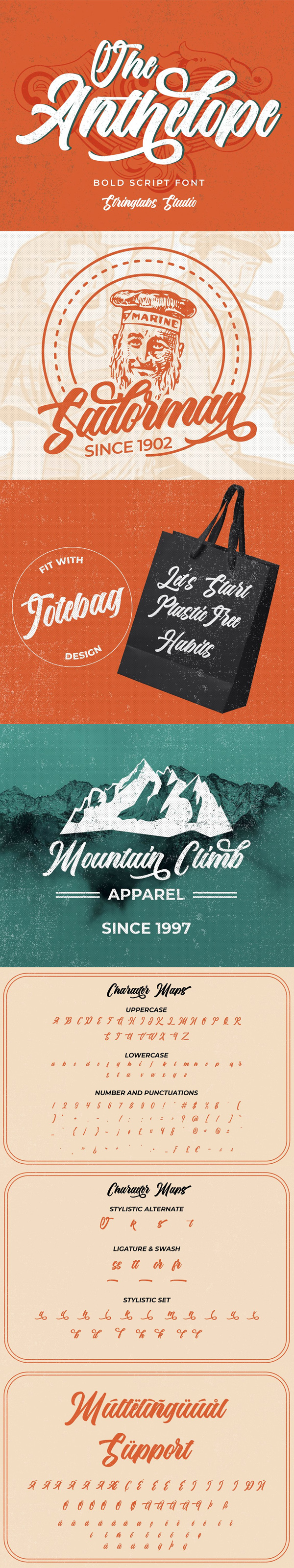 The Anthelope - Retro Script Free Font