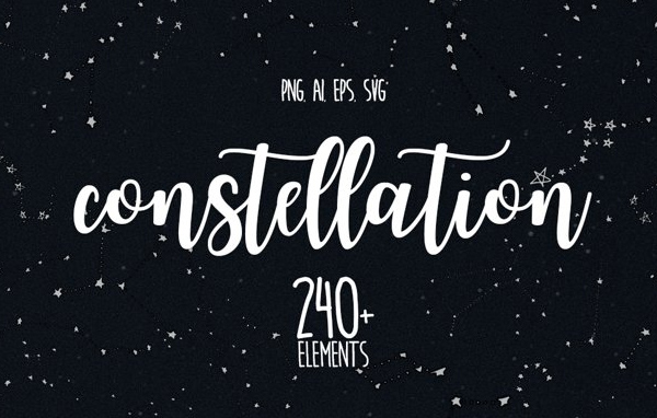 Free Constellation-Themed Graphic