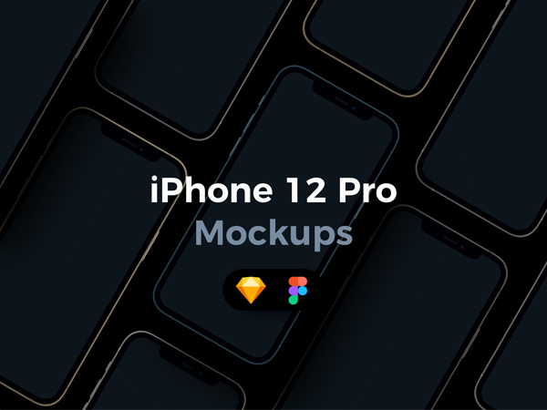 iPhone 12 Pro - Mockups for Sketch & Figma