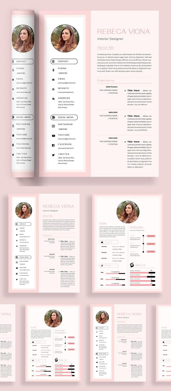 Presented Print Template for Resume/ CV