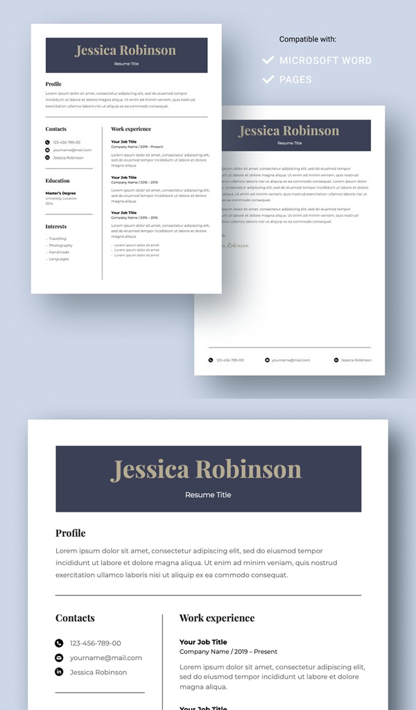 Attractive Resume Template CV