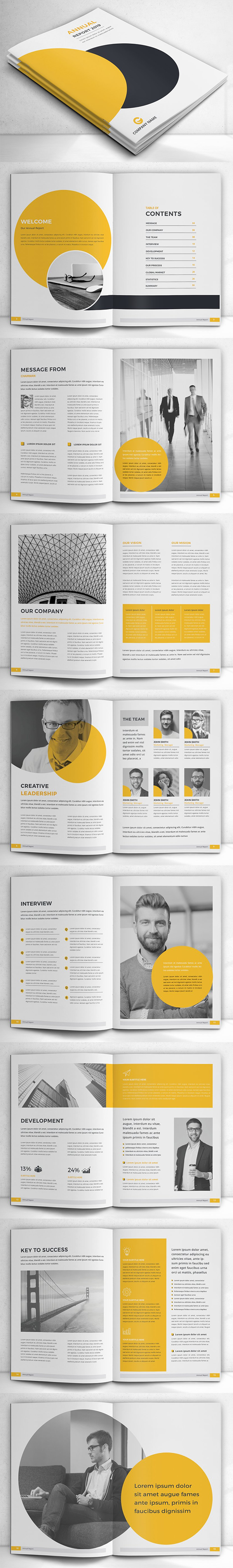 Simple Annual Report Brochure Template