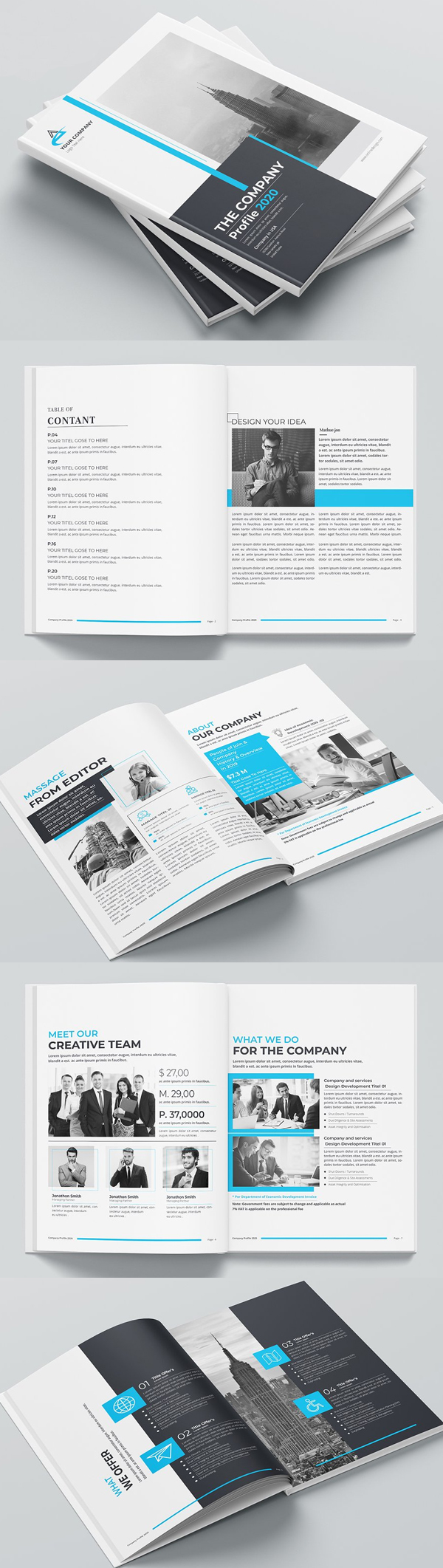 Awesome Company Profile Print Template