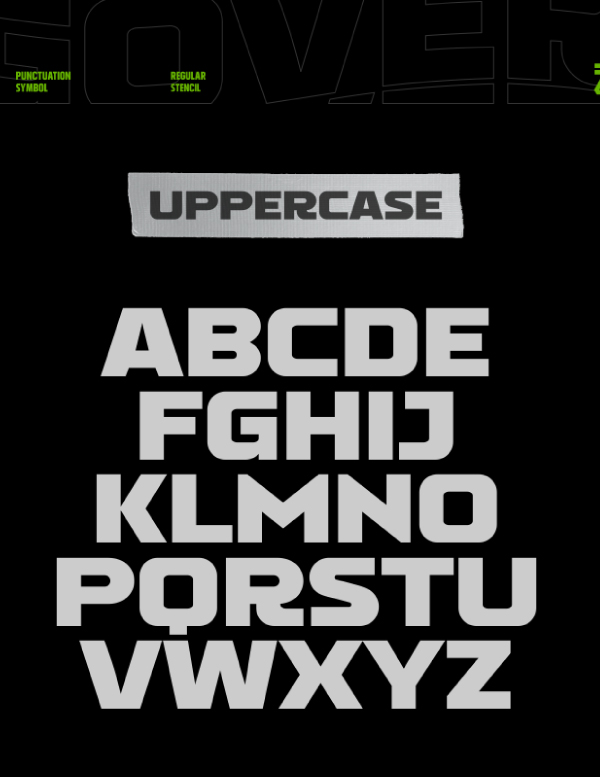 Gover  Font Letters