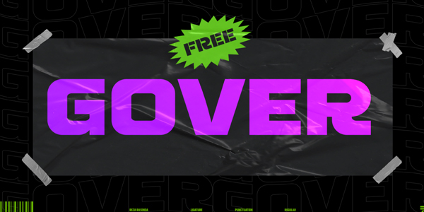 Gover  Free Font