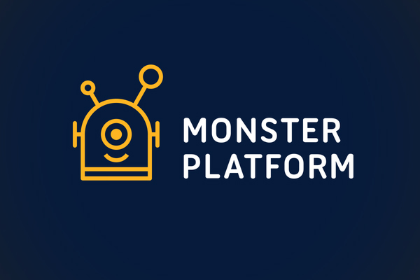 Monster Platform Logo Line Art by minimalexa