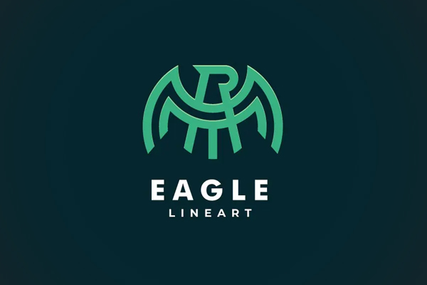 Abstarct Eagle Line Art Logo