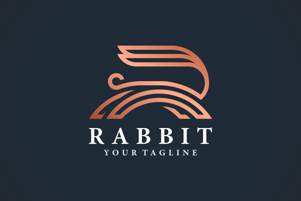 Rabbit Vector Line Art Logo