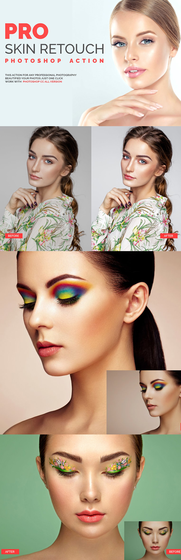 Pro Skin Retouch Photoshop Action