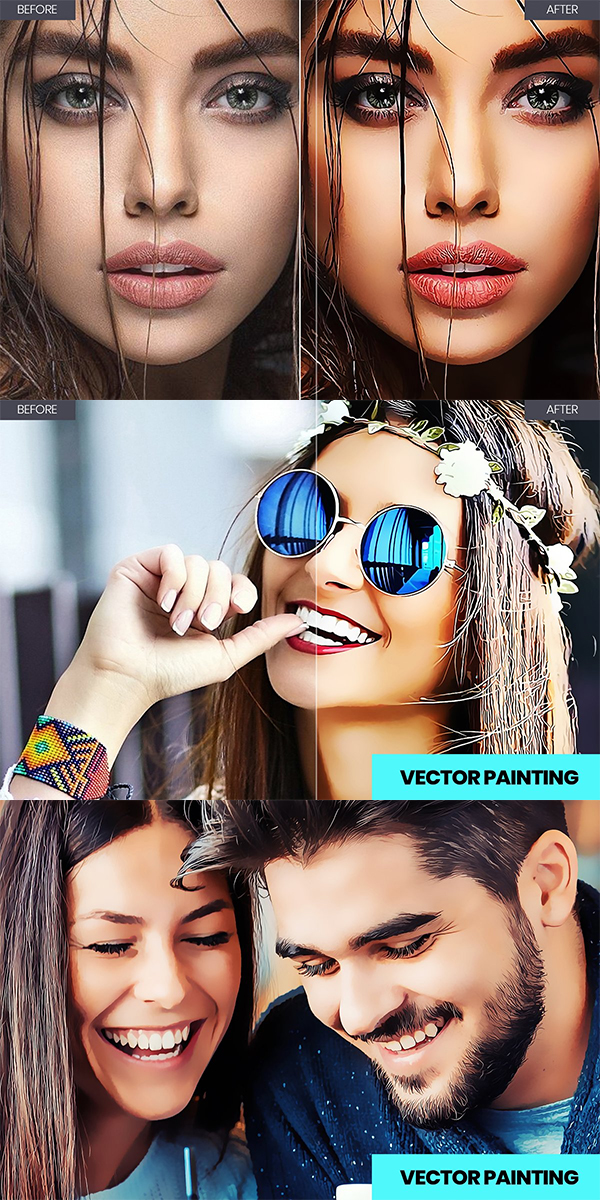 Painting Retouch Photoshop Action