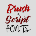 Post thumbnail of 20 Amazing Brush Fonts and Script Fonts for Headlines