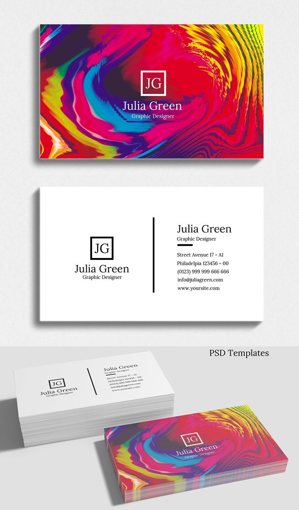 Awesome Abstract Business Card