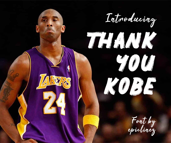 Thank You Kobe Free Hipster Font