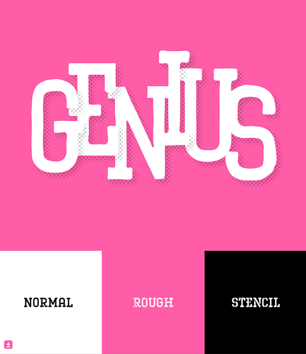 RS Genius Free Hipster Font