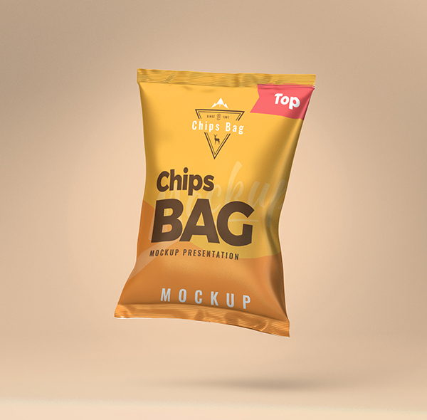 Free Chips Bag PSD Mockup PSD