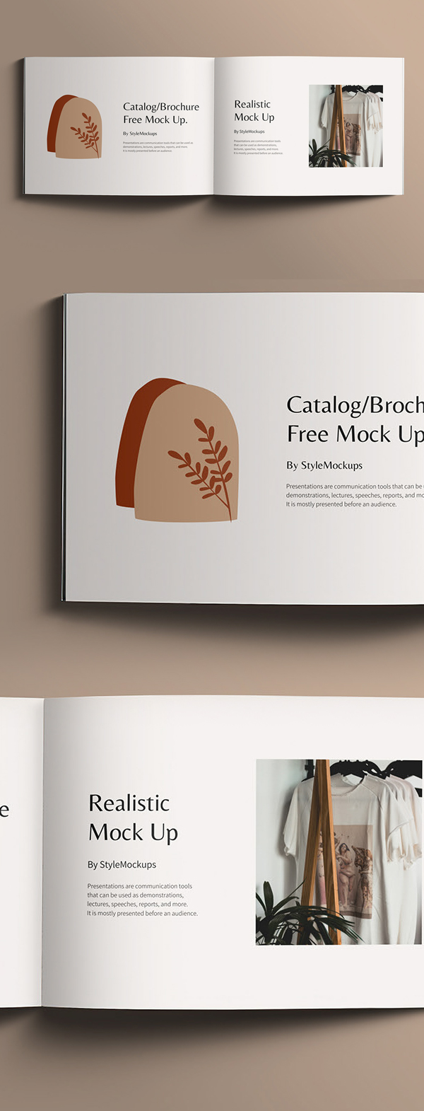 Free Open Square Catalog Mockup PSD