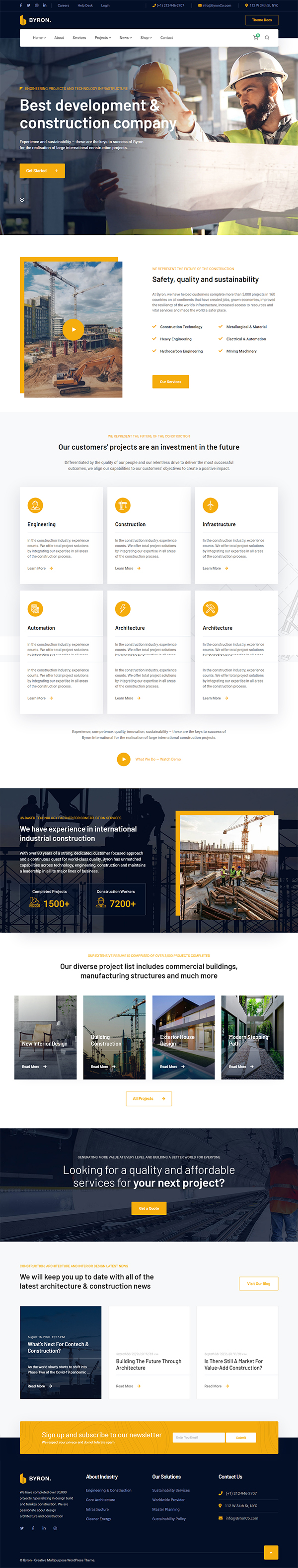 Byron | Construction and Engineering WP Theme