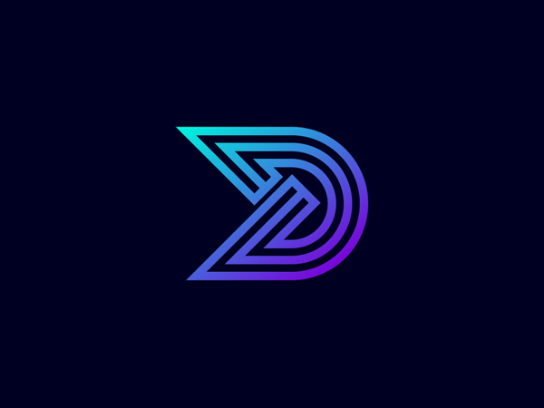 Minimal D Letter Logo Design by Freelancer Iqbal