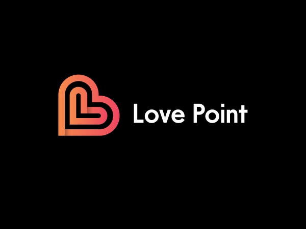 Love Point Logo Design ( Love + Letter 'L' ) by Sanaullah Ujjal