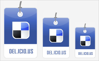 Delicious Social Bookmarking Icons