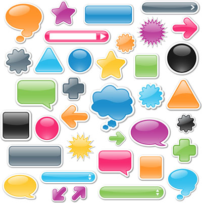Vector Glossy Web Icons