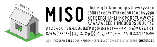 miso - 70 Remarkable High Quality Free Fonts for Graphic Designers