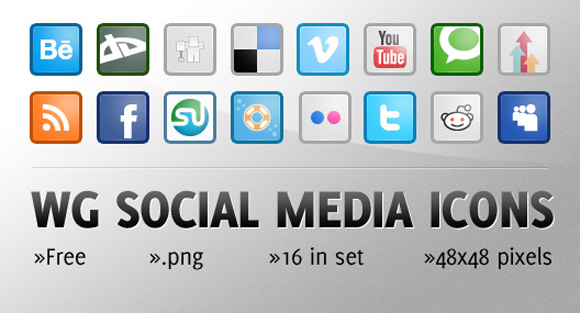 25 Fresh and Creative Design Social Networking Icon Sets