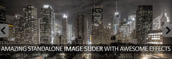 Amazing Standalone Image Slider With Awesome Effects