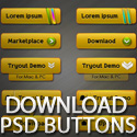 Post thumbnail of Download Free PSD Buttons Pack
