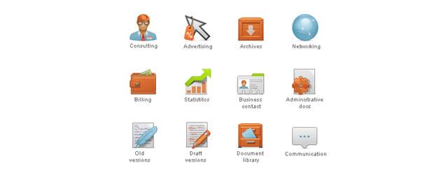 Content Management System Icon Set
