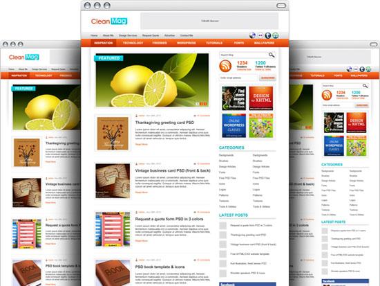 WordPress Blog Theme PSD Template