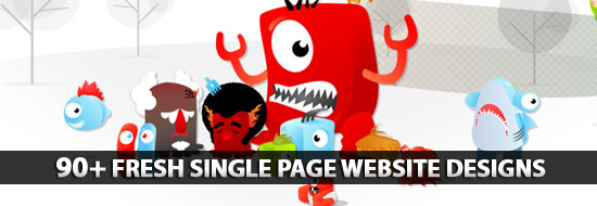 Post image of Single Page Websites Designs: 90+ Fresh and Creative Single Page Website Designs