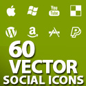 Post thumbnail of Vector Icons: 60 Free Social Bundle Vector Icons