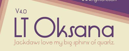LT Oksana Free Font