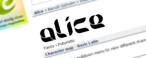 Alice Free Font