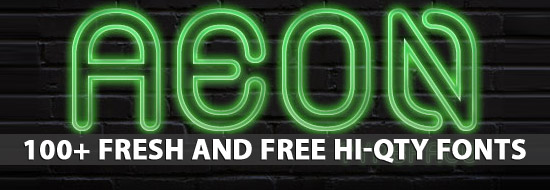 Free Fonts: 100+ Fresh and Free High-Quality Fonts