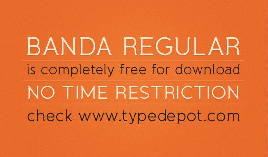 Banda Regular Free Font