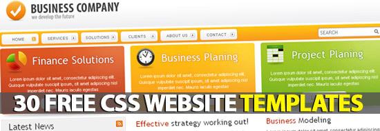 Post image of 30 Free Premium CSS/XHTML Website Templates