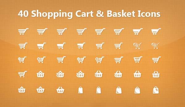 Free Vector Shopping Cart PSD Icons