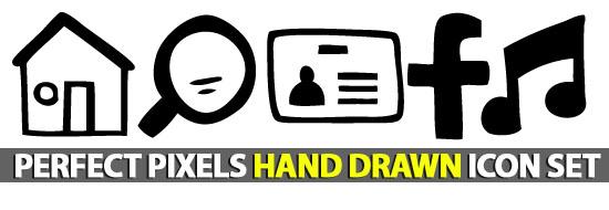 Perfect Pixels Free Hand-Drawn Icon Set