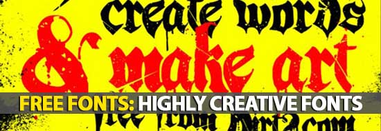 Post image of Free Fonts: 15 Highly Creative Fonts