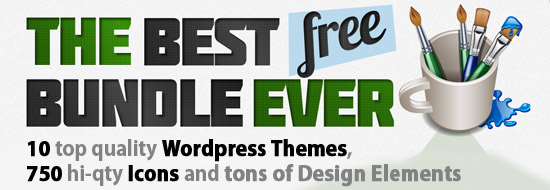 Free Icons, WordPress Themes and Design Elements Bundle