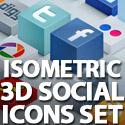 Post thumbnail of Isometric 3D Social Media Icons Set